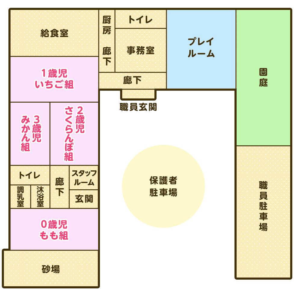 園舎配置図